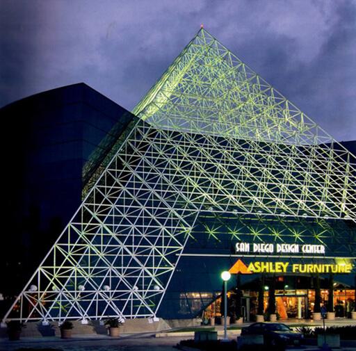 Distinctive Space Frame Pyramid