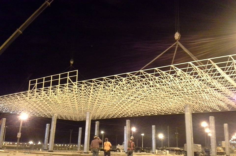 Gulfport's Striking Entrance Canopy