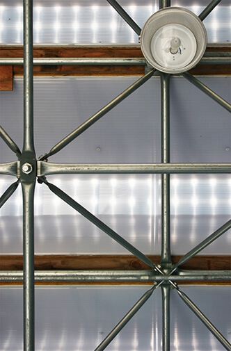 STORAGE BARN - Light waught space Frames