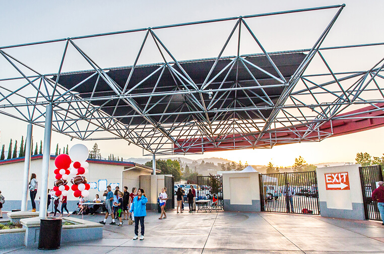 space frame canopy entrance canopy