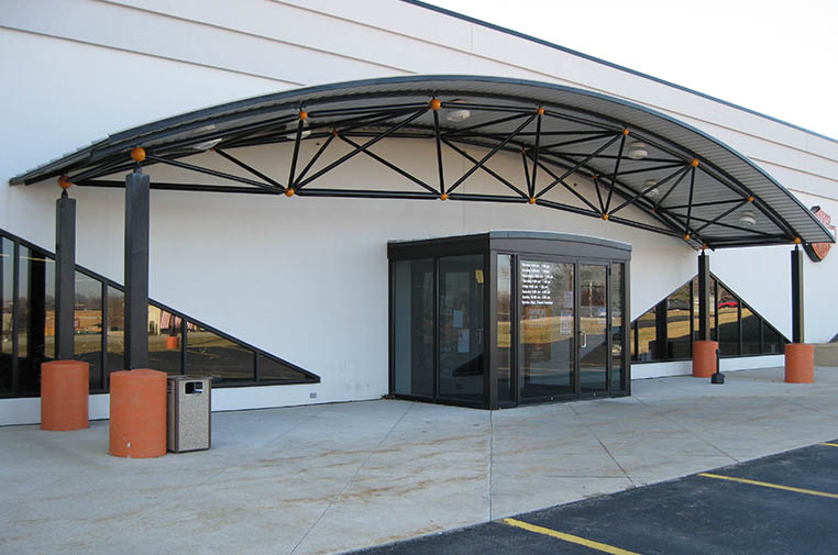 DSI Spaceframes entrance canopies