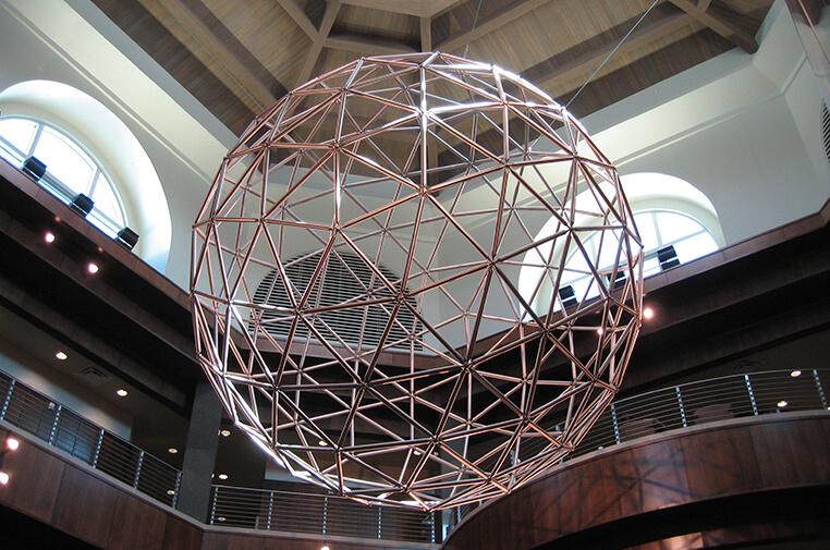 stainless steel geodesic sphere